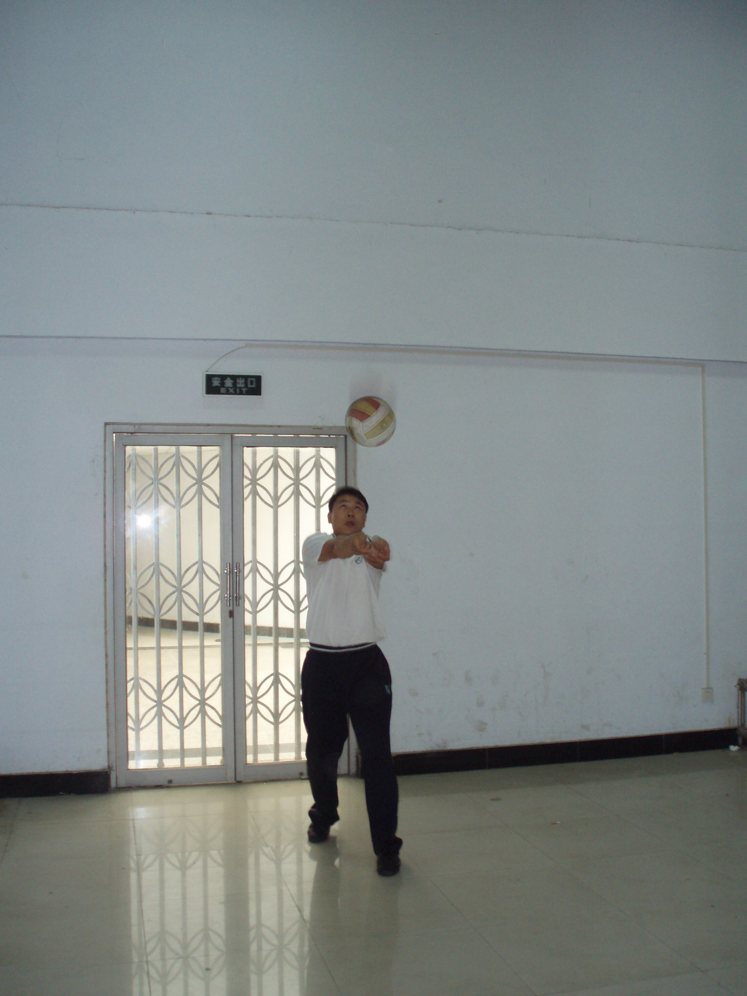 教学技能 排球双手正面垫球 郑州市第五届县 市 农村中小学高清图片