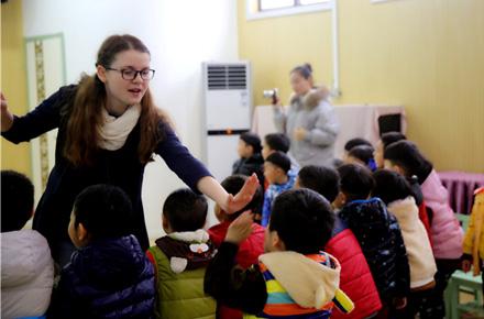 """市教工幼儿园举行""""趣味外教英语""""展示活动"""
