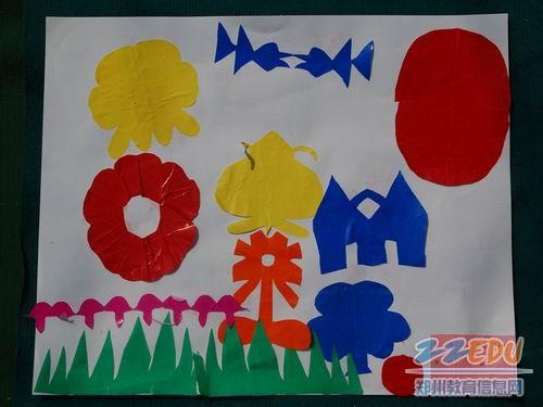儿童剪纸贴画素材