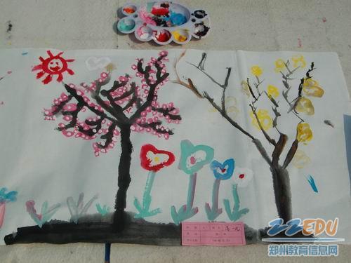 小班美术教案棉签画