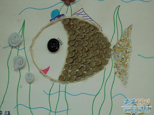 一年级贝壳粘贴画