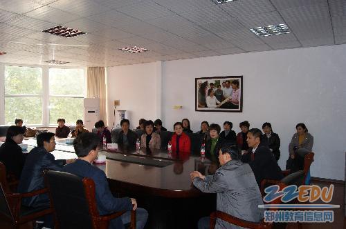 行参观郑州市盲聋哑学校 -同行交流共携手 示范引领促发展图片