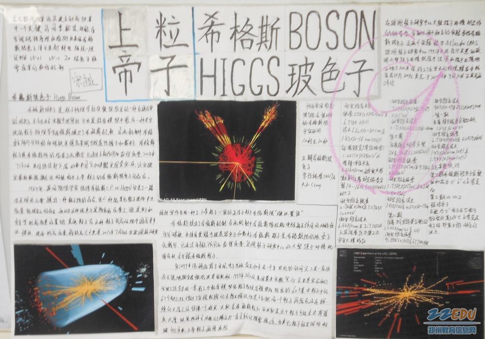 学生们的物理手抄报展示