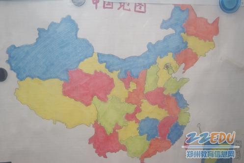 手绘地图大赛提升学生爱国情