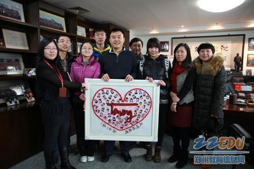 郑州101中学天明班学子赴天明集团表达感恩之情