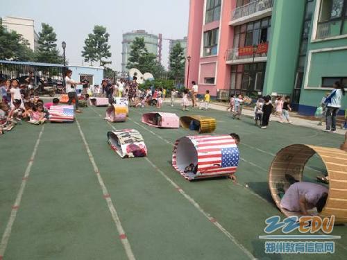 幼儿园康桥分园举办自制户外体育器械展示评比活动