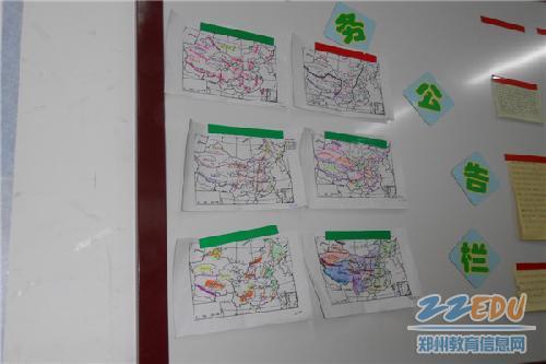 手绘地图大赛 尽显学生风采