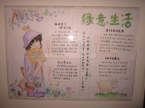 """教育不断深入人心,11月中旬,郑州47中开展以""""三爱三节""""为主题的手抄报图片"""