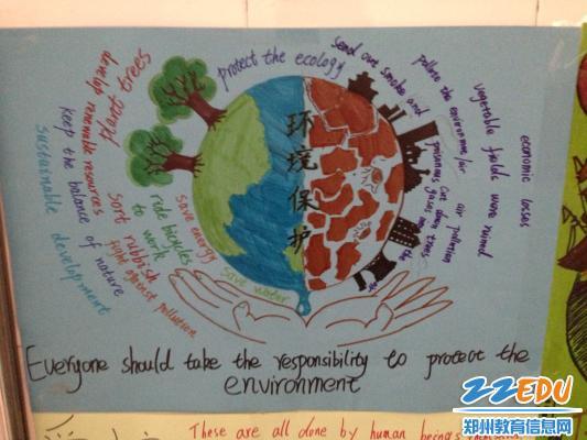 怎么布置qq空间_[18中] 制作英语宣传海报,环境保护有创意--郑州校园网