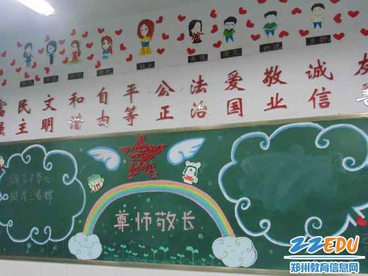 轮外语学校举行书香班级教室装点大赛 -用美丽装点班级环境 用智慧