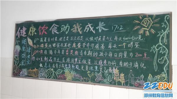 健康教育黑板报(2)-郑州十一中健康教育展促进学子关注健康
