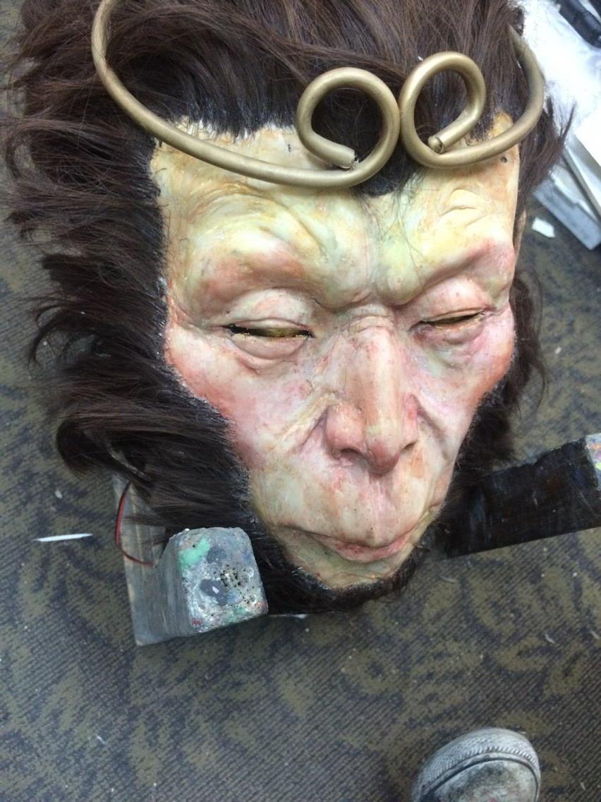 头�_猴子头部的制作