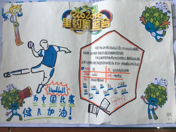 教育时讯 >正文  学生制作的奥运手抄报   近日,在郑州四中开学典礼上