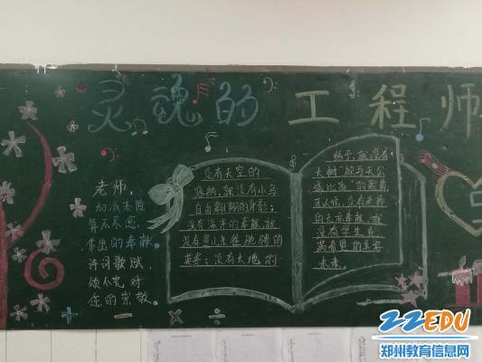 生们精心制作的教师节黑板报-感谢恩师 做尊师重道之人图片