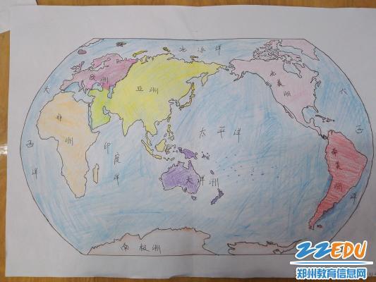 巧手绘世界,地图显风采 郑州回中开展手绘世界