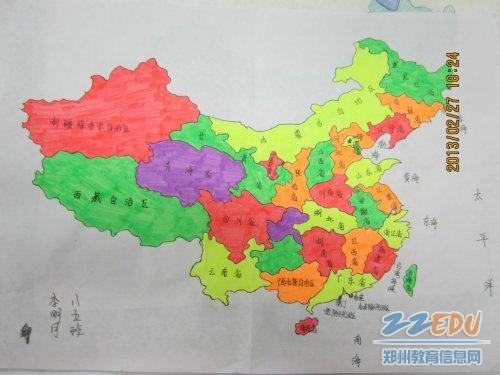 发挥自己的想象力,画一幅中国地图.图片