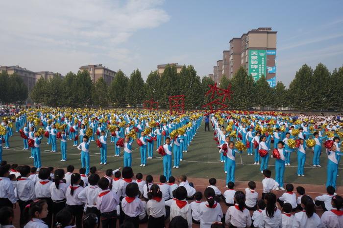 玉圃团_新圃街小学大型团体操《中国梦》