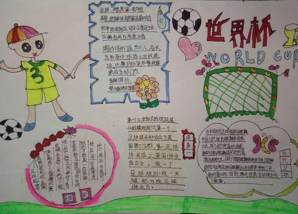 """中牟县新圃街小学开展""""我和足球的故事""""主题征文和手抄报比赛"""