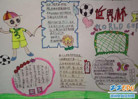 小学开展 我和足球的故事 主题征文和手抄报比赛