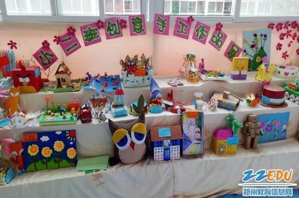 小二班创意手工作品展-百花路幼儿园 快乐亲子DIY 创意手工秀出来