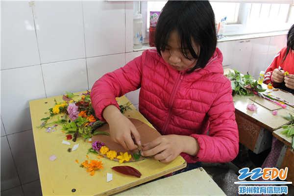 [经开]袁庄小学开展组织手工学生家书小学v小学年级三贴画植物图片