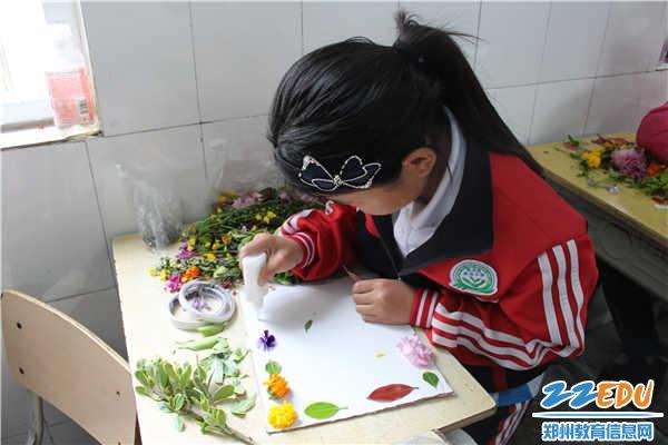 [经开]袁庄学生组织开展小学手工植物贴画活动招聘小学富阳图片