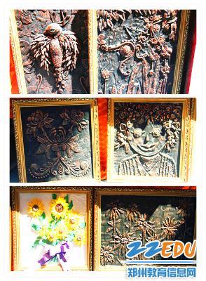 仿青铜浮雕画-展现精彩 描画未来