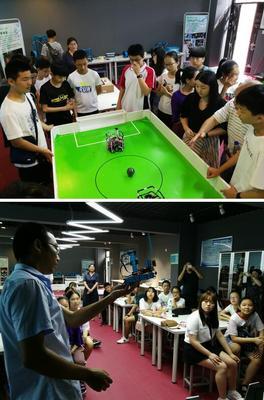韩方学生走入创客教室,感受中国基础教育的多元化发展