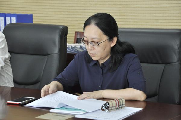 郑州23中校长薛莹作学科核心素养建设汇报