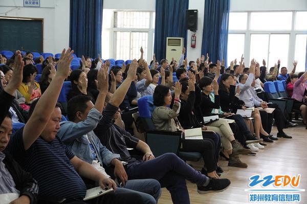 参会人员举手表决
