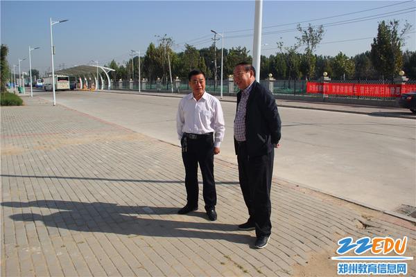 郑州市教育局副局长张大龙调研郑州市经济贸易学校职教园新区