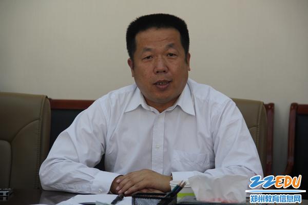 7、101中学校长李国喜表达对督导组的感谢