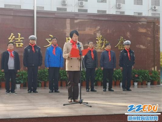 3金水区文明办主任赵蔚倡议全社会共同努力为未成年人营造良好交通环境