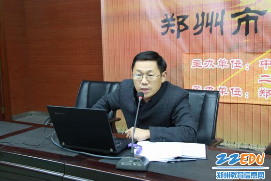 李旭副校长分析教情
