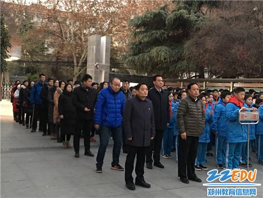 郑州市回民中学校级领导参加升旗仪式