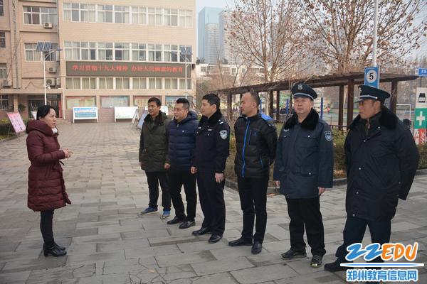 郑州42中校长于红莲对演练工作进行部署