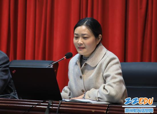 郑州九中工会主席陈晖做新学期工会事变布置