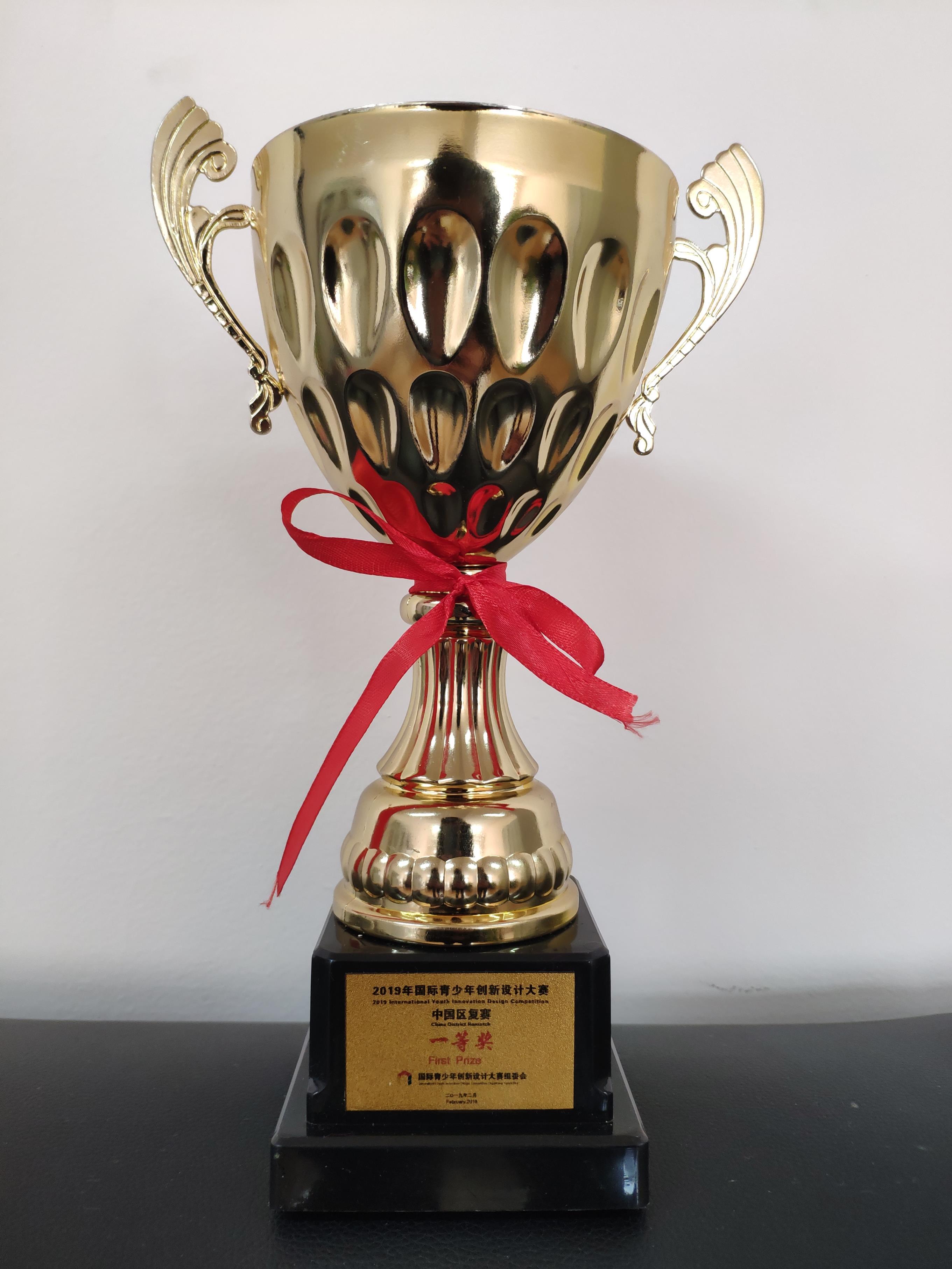 郑州34中参加第六届国际青少年创新设计大赛荣获一等奖图片