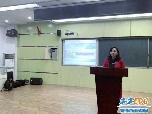 六合开奖记录47中国际部主任张宏为学生干部作培训_副本