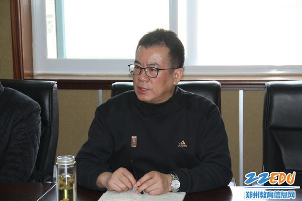 郑州八中校长郅广武布置校园安全工作