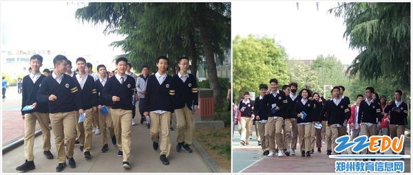 学生自信地走出考场