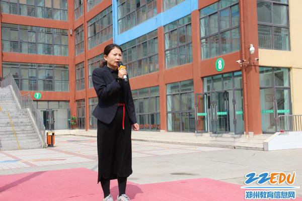 4.校长张凤敏对本次演练进行总结