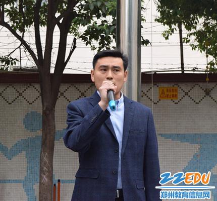 政教处主任王元柱为同学们提出防溺水注意事项