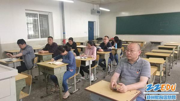 郑州回中工会主席王钧参加第一支部支部学习活动