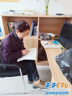 6郑州63中支教教师李淑瑜立刻投入工作