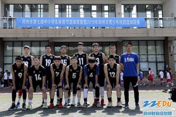 郑州八中男篮队伍合影 - 副本
