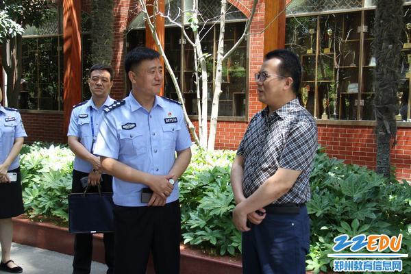 郑州八中校长与郑州市公安局金水路分局一行交流学校发展事宜
