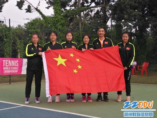 4、47中网球队队员和教练合影
