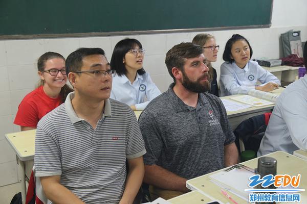 美方师生在韦德体育课堂体验中国教育学问