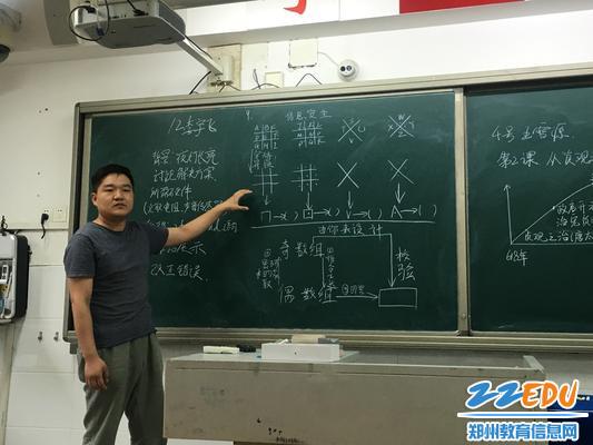 7信息技术教研组长孟志伟老师点评选手板书